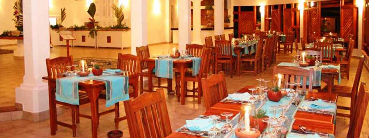 The restaurant a t Crystal bay resort watamu